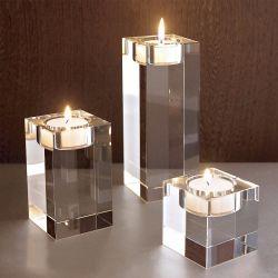 Высокое чашечки хрустальное стекло при свечах держатель для украшения