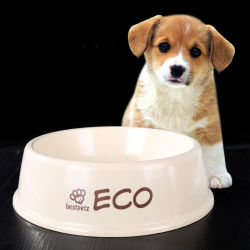 Printable fibra vegetal melamina tazón Pet Pet bote de fibra vegetal