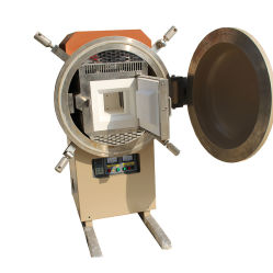 Le chauffage par induction sous vide avec le flasque de la machine de traitement thermique pour l'agglomération