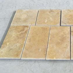 Importé de la Turquie Golden travertin pour revêtements de sol et de dalles de carrelage mural