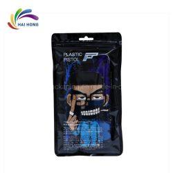 Kundenspezifischer schwarzer Pistole-Ikonen-Mobiltelefon-Kasten-transparente verpackenreißverschluss-Beutel