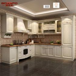 Cabinet de cuisine en bois classique en acajou à chaud (GSP5-044)