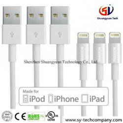 3FT Relámpago Pin 8 Cable USB Cargador Cable de sincronización de datos Cables para iPhone de Apple SE, 7, 7 Plus, 6s Plus, 6s, 6 Plus, 6, 5s, 5c, 5, el aire, el iPad iPad Mini, iPod Touch