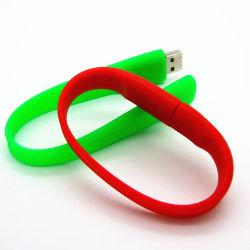 크리에이티브 실리콘 팔찌 손목 밴드 USB 스틱으로 사용자 지정 로고