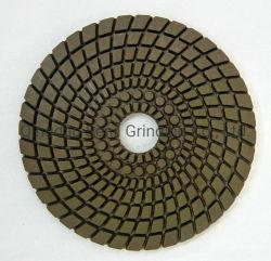 Tampon de polissage de diamant Meuleuse portative de résine pour le polissage de granite Bond humide