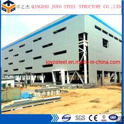 Estructura de acero prefabricada almacén o taller o fábrica de materiales de construcción