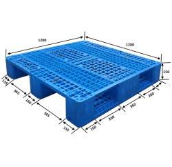 中国標準サイズ 1200*1000 缶ラックシステムハンドフォークリフト プラスチックパレット