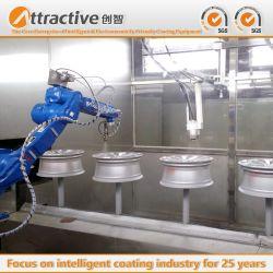 独自に中国の工場によって開発される自動噴霧オイルシステムコーティングの生産ラインが自動車車輪を製造するのに使用されている