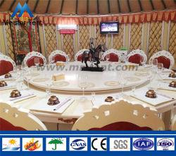 Châssis en aluminium de luxe Restaurant Loge Yourte Mongole tente avec AC