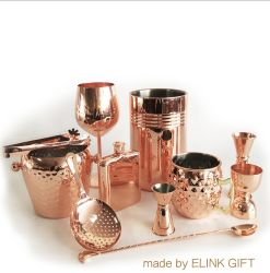 Sedex fábrica de la herramienta de la barra de herramienta cóctel Whisky de acero inoxidable recubierto de oro rosa mezclador cóctel Coctelera Set