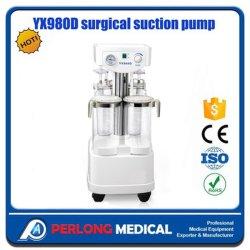 Yx980d Mobile 4 frascos de aspiração cirúrgica da bomba de sucção cirúrgico