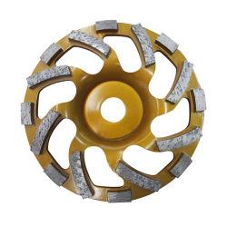 """M16 M14 5/8 """" -機械のための11の7/8個の""""接続の具体的なダイヤモンドの粉砕車輪のコップの車輪"""