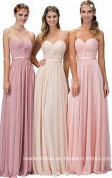 Vestidos de noche largo Chiffon Imperio Bustier Bridesmaid Dress G1385