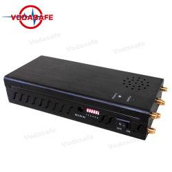 Seis Antenas de sinal de RF portátil Scrambler trabalhando para 2G, 3G, 4G WiFi telefone portátil GPS Bloqueador de recepção