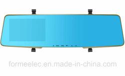 Doble lente 4.3inch espejo retrovisor coche DVR