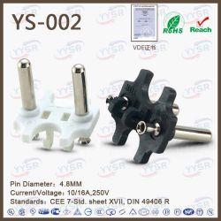 4.8mmオランダPlug Insert (VDEのプラグ、cee7/17標準ソケットのプラグ)