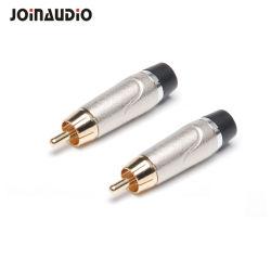 新しいデザインRCAの男性プラグの可聴周波電話ケーブルのはんだのコネクター(J708N)