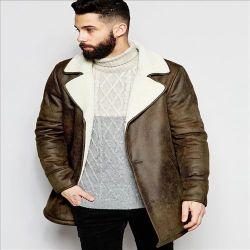 2016の熱い販売のファッション・デザイナーの長いスエードのコートのスーツの人