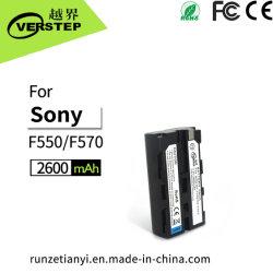 2600mAh bateria da câmara de vídeo compatível com a Sony NP-F550/F570 bateria recarregável