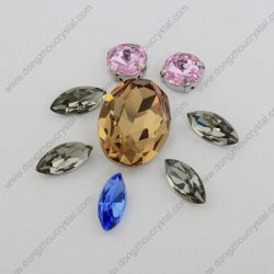 Settings From Dongzhou Manufacturer를 가진 사탕 과자 Crystal Jewelry Elements Point Back