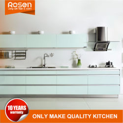 Vendita All'Ingrosso Pittura Blue Stainless Steel Online Mobili Cucina Cabinets