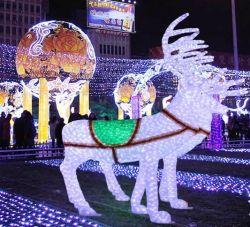 LED 24 V de la sculpture de rennes Décorations de Noël de plein air