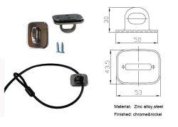 Accessorio della serratura del computer portatile, accessorio della serratura del calcolatore, soluzione totale da tavolino che chiude accessorio a chiave, Al-7207
