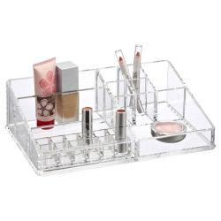 Organizador de cosméticos maquillaje Joyas de almacenamiento - grandes compartimentos de 6 cajones acrílicos perfecto para almacenar sus accesorios, pinceles, lápices labiales, cremas, esmaltes de uñas