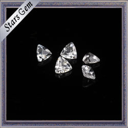 Bling Bling de forma de triángulo blanco natural topacio para joyería