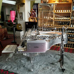 El chino moderno y lujoso Hotel de Estrella Dormitorio muebles Restaurante Piano de cola de cristal (GH-168A)
