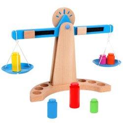 Escalas de equilibrio de madera Burrless bebé Juguetes rompecabezas niños juguetes educativos