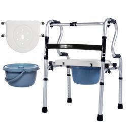 إطار من الألومنيوم المتين كرسي تثبيت للمرحاض لذوي الاحتياجات الخاصة