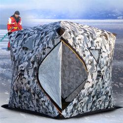 넓은 공간 두껍게 세 겹으로 면지가 겨울을 따뜻하게 유지함 낚시 텐트 방풍 방수 낚시 텐트 겨울