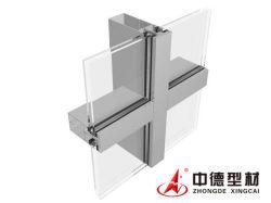 正面システム外部のガラス壁のパネルのアルミニウムカーテン・ウォールのプロフィールのガラスカーテン・ウォールの価格