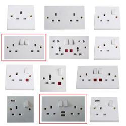 UK 2pista Sp a luz do Soquete da Tomada Elétrica de interruptor de parede