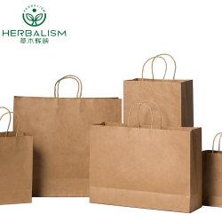 Venda por grosso Custom Brown Saco de papel Kraft embalagens para alimentos/lojas/Dom