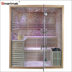 Cheap personales en el interior de madera baño sauna infrarrojo lejano de la cabina de vapor seco