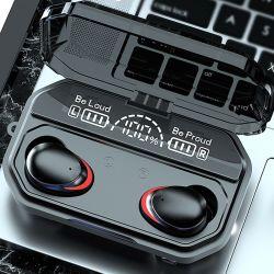 A17, 2021 vendedor caliente tapones de auricular inalámbrico de Tws Bt LED HD de pantalla digital de la versión 5.1 de la luz de la Respiración calidad de sonido HiFi auricular