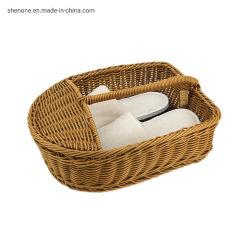 Shenone amplamente utilizados Hand-Woven Ronda de plástico cestos de lavandaria para panos sujos