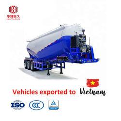 33m3/CBM Bulk Cement Transport LKW Anhänger/Pulver Material Tank trockene Masse Zement Pulver Tanker Semi Anhänger Unten Schnell Selbst Entlädt Sattelauflieger 40-60tons