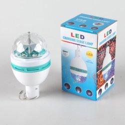 مصابيح Yichen USB قابلة لإعادة الشحن LED Stage مع كرة كريستالية ملونة