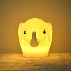 Best-seller 2021 Silicone Lâmpada bonitinho controlo táctil luzes da noite de desenhos animados da lâmpada de Bebé Portátil Kids Noite Lâmpada de Luz