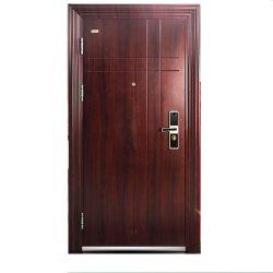 Chambre extérieur principal de la sécurité de l'acier Entrée de porte de la conception de porte unique en métal
