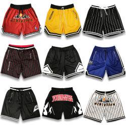 Venda por grosso de basquete masculino Jersey se sublima personalizado imprimindo Design de vestuário de malha Casual Desportivo do logotipo bordado calções de basquete