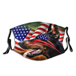 Katoenen van het Stof van het Af:drukken van de Liefde van de Rassen van de Minnaar van de hond het Honds Wasbare WindMasker van het Gezicht