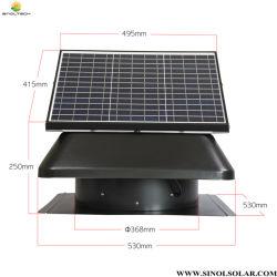 고출력 14인치 50W 태양열 배기 팬 환기 장치(SN2018027)
