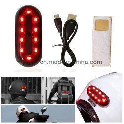 Signal d'avertissement de sac à dos de la sécurité universelle casque de moto de queue de lumière à LED