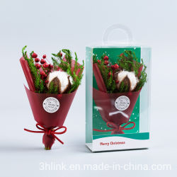 素朴な赤のクリスマス花柄クリスマスフラワークリスマス花はお祝いにぴったりです 季節の装飾クリスマスの花は考えクリスマスの花を飾る