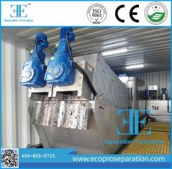 Tratamiento de aguas residuales de la Concentración de lodos de poliéster de prensa de tornillo