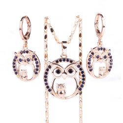 مجوهرات زفاف مطلية بالذهب النحاسي ذات الشكل المستدير على شكل دائري للفتيات